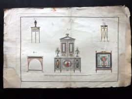 Voss und Leo 1793 Architectural Print. Furniture Interiors 06